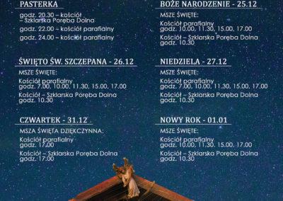 PLAKAT Boże Narodzenie 2020 - Szklarska